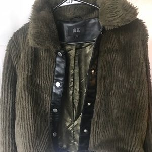 Jackets & Blazers - Green fur coat by Goldie from Saks Fifth Ave